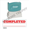 """Pre-Inked Stock Stamp """"COMPLETED with UNDERLINE"""" (RED) - Impression Size: 1/2"""" x 1-5/8"""""""