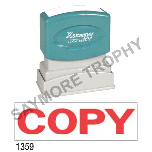 "Pre-Inked Stock Stamp ""COPY"" (RED) - Impression Size: 1/2"" x 1-5/8"""