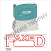 "Pre-Inked Stock Stamp ""FAXED with BOX"" (RED) - Impression Size: 1/2"" x 1-5/8"""