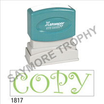 "Pre-Inked Stock Stamp ""COPY - CURLZ"" (GREEN) - Impression Size: 1/2"" x 1-5/8"""