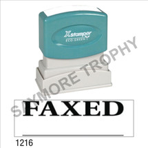 "XStamper Pre-Inked Stock Stamp ""FAXED - UNDERLINE"" (BLACK) - Impression Size: 1/2"" x 1-5/8"""