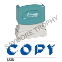 "XStamper Pre-Inked Stock Stamp ""COD"" (RED) - Impression Size: 1/2"" x 1-5/8"""