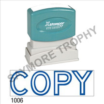 "XStamper Pre-Inked Stock Stamp ""COPY-OUTLINE"" (BLUE) - Impression Size: 1/2"" x 1-5/8"""