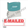 """XStamper Pre-Inked Stock Stamp """"EMAILED-W/BOX"""" (RED) - Impression Size: 1/2"""" x 1-5/8"""""""