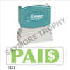 """XStamper Pre-Inked Stock Stamp """"PAID"""" (GREEN) - Impression Size: 1/2"""" x 1-5/8"""""""