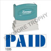 """XStamper Pre-Inked Stock Stamp """"PAID"""" (BLUE) - Impression Size: 1/2"""" x 1-5/8"""""""