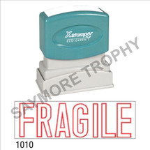 "XStamper Pre-Inked Stock Stamp ""FRAGILE"" (RED) - Impression Size: 1/2"" x 1-5/8"""
