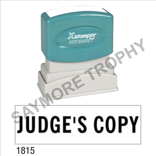 "XStamper Pre-Inked Stock Stamp ""JUDGE'S COPY"" (BLACK) - Impression Size: 1/2"" x 1-5/8"""