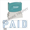 "XStamper Pre-Inked Stock Stamp ""PAID OUTLINE"" (BLUE) - Impression Size: 1/2"" x 1-5/8"""