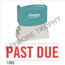 """XStamper Pre-Inked Stock Stamp """"PAST DUE"""" (RED) - Impression Size: 1/2"""" x 1-5/8"""""""