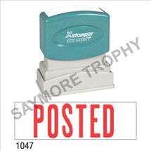 "XStamper Pre-Inked Stock Stamp ""POSTED"" (RED) - Impression Size: 1/2"" x 1-5/8"""
