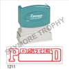 """XStamper Pre-Inked Stock Stamp """"POSTED BOX"""" (RED) - Impression Size: 1/2"""" x 1-5/8"""""""