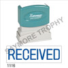 "XStamper Pre-Inked Stock Stamp ""RECEIVED"" (BLUE) - Impression Size: 1/2"" x 1-5/8"""