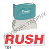 "XStamper Pre-Inked Stock Stamp ""RUSH"" (RED) - Impression Size: 1/2"" x 1-5/8"""