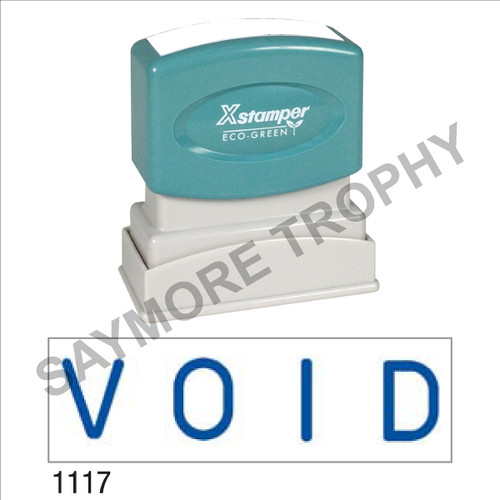 "XStamper Pre-Inked Stock Stamp ""VOID"" (BLUE) - Impression Size: 1/2"" x 1-5/8"""