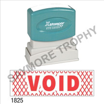 "XStamper Pre-Inked Stock Stamp ""VOID w/HATCH"" (RED) - Impression Size: 1/2"" x 1-5/8"""