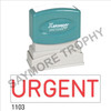 "XStamper Pre-Inked Stock Stamp ""URGENT"" (RED) - Impression Size: 1/2"" x 1-5/8"""