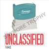 """XStamper Pre-Inked Stock Stamp """"UNCLASSIFIED"""" (RED) - Impression Size: 1/2"""" x 1-5/8"""""""