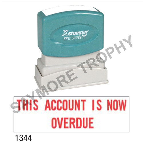 """XStamper Pre-Inked Stock Stamp """"THIS ACCOUNT IS OVERDUE"""" (RED) - Impression Size: 1/2"""" x 1-5/8"""""""
