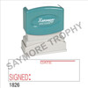"XStamper Pre-Inked Stock Stamp ""SIGNED - DATE"" (RED) - Impression Size: 1/2"" x 1-5/8"""
