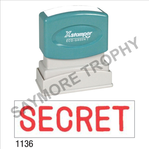 "XStamper Pre-Inked Stock Stamp ""SECRET"" (RED) - Impression Size: 1/2"" x 1-5/8"""