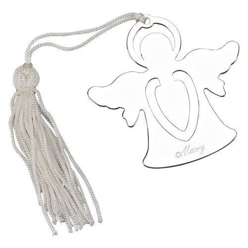 personalized engraved angel bookmark and tassel
