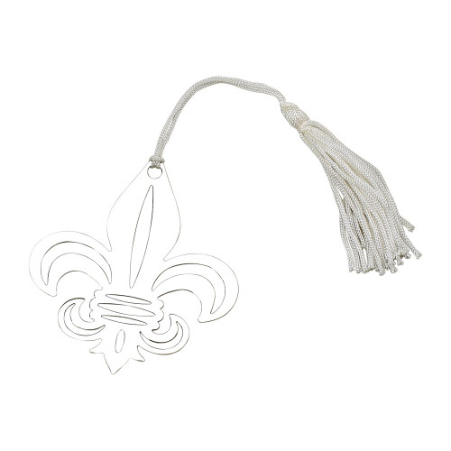 engraved personalized fleur de lis bookmark