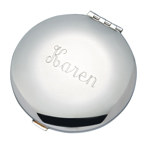 personalized round compact