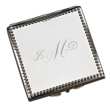 Personalized Engraved Square Beaded Compact
