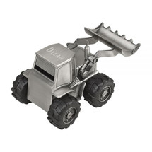 front loader pewter finish bank engraved