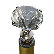 Clear Solitaire Diamond-shaped Bottle Stopper