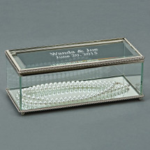 Personalized Engraved Glass Jewelry Box