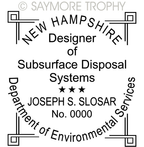 NH New Hampshire Subsurface Disposal Systems Stamp