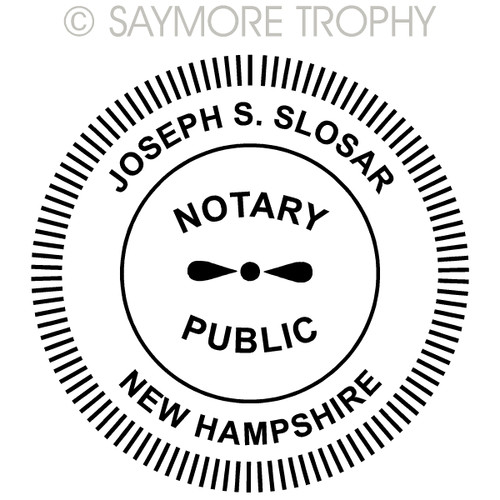 NH New Hampshire Notary Public Stamp