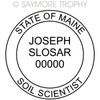 ME Maine Certified Soil Scientist Stamp