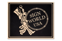 Flash Bronze Cast Aluminum Plaque