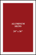 "24"" x 36"" aluminum sign square corners"