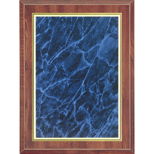 Economy Cherry Plaque with Blue Marble Plate