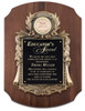 American Walnut Plaque with Metal Casting Plate and Disk Holder