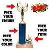 Wow Trophy with Trim and Column Custom Figure