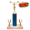 Wow Trophy Small with Column and 2 Trim Cheap