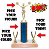 Wow Small Trophy with Custom Figure