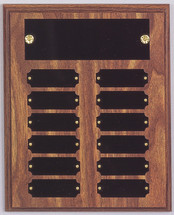 "8"" x 10"" (12 Plate) Walnut Finish Perpetual Plaque"