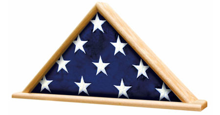 This is a flag case with base for ceremonial flags