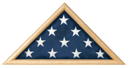 This is a case which holds a casket flag