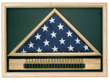 Casket Flag Memorial Case with Cartridge Belt