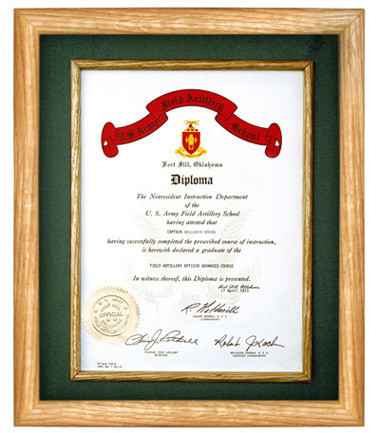 This is a document frame to hold certificates