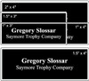 """1.5"""" x 4"""" Engraved Name Tag Comparison"""