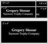 "2"" x 4"" Engraved Name Tag Comparison"