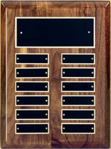"9"" x 12"" (12 Plate) High Gloss Piano Finish Perpetual Plaque by Victory"